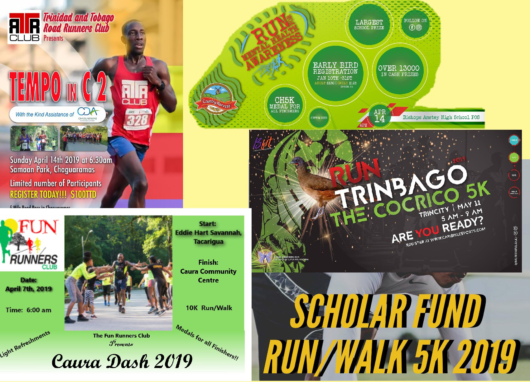 Register here for these fantastic events!